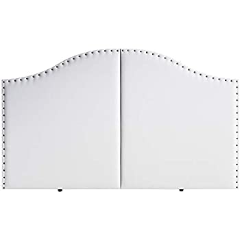 Marckonfort Tête de lit Lyon avec des punaises 160X95 Blanc