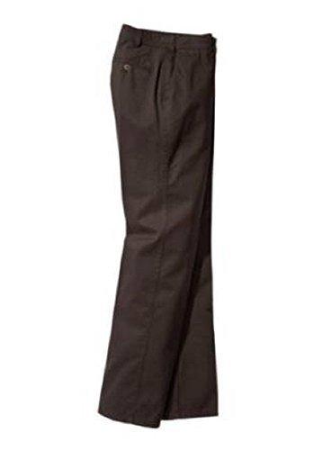 Pantalon plat avant pour la Homme en Stretch - Couleur Marron Marron