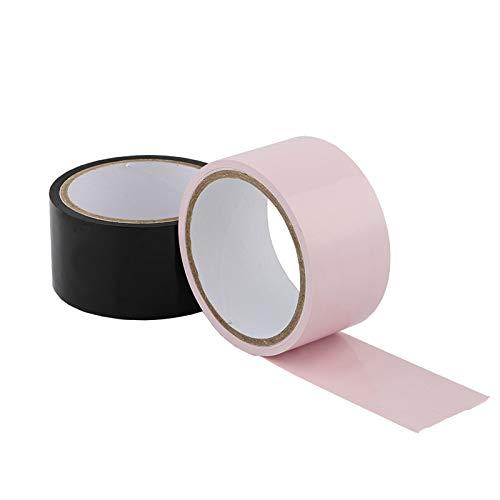 LIHAO 2x Bondage Tape Bondage-Bänder 15m Fesseltape Bondage Set Schwarz Pink(MEHRWEG)
