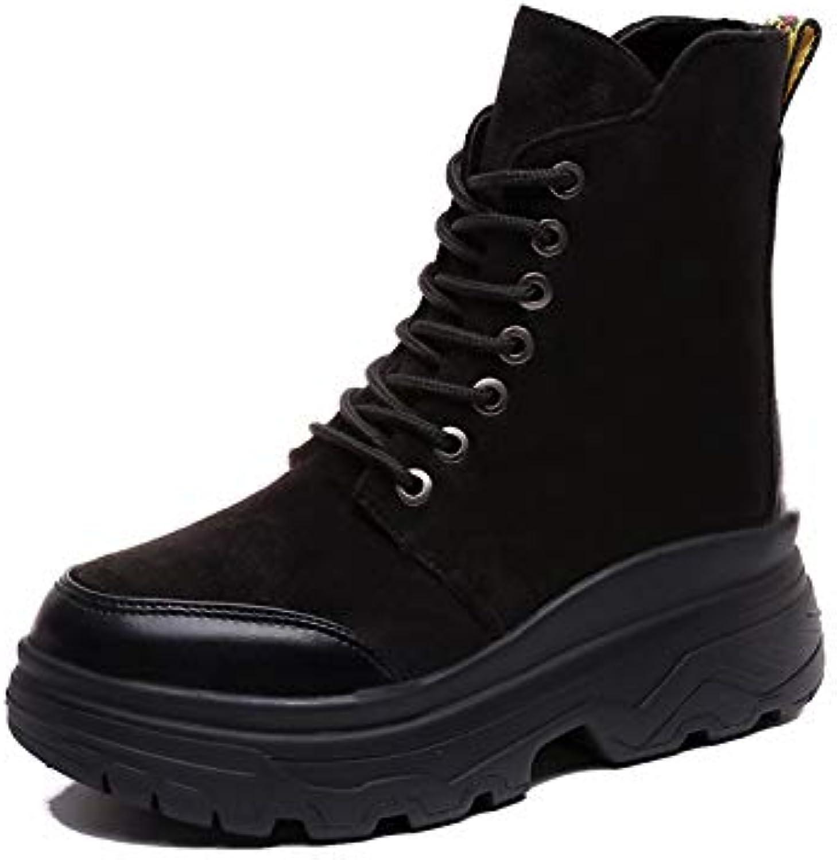 Shukun Stivaletti Autumn Student Retro Wouomo scarpe Wild Skinny Skinny Skinny Wouomo stivali scarpe High Help Martin stivali nero... | Germania  | Uomini/Donne Scarpa  c5414d