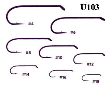 Umpqua u-Series Fliegenbinden Haken U103, Size 14-50 Pack -