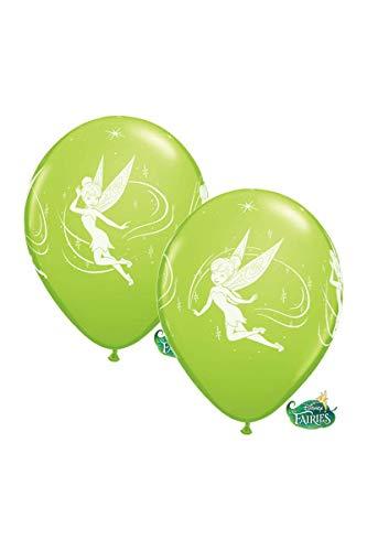 Unbekannt Qualatex Ballons Latex 19239Disney Tinkerbell rund, Limettengrün, 12Zoll