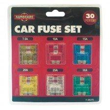 guilty-gadgets-r-30-x-car-van-fuse-blade-set-kit-motorbike-mixed-spade-fuses-10-15-20-25-30-amp