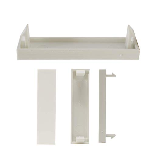 I-CHOOSE LIMITED Weiß Vierteldeckplatte für Elektrische Frontplatte 50 x 12,5 mm (4 Frontplatte Steckdose)