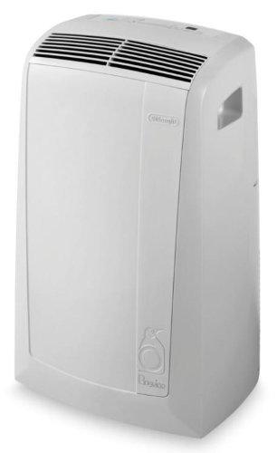 De'Longhi PAC N81 Mobiles Klimagerät (Max. Kühlleistung 9400 Btu/h (35°C/80% R.H.), Separate Entfeuchtungsfunktion, Geeignet für Räume bis 80 m³) Weiß