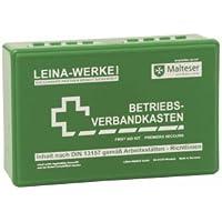 Leina Werke Betriebs-Verbandkasten DIN13157 255x166x80mm grün preisvergleich bei billige-tabletten.eu
