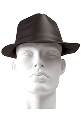 Sombrero de gángster para disfraz, goma EVA, color negro