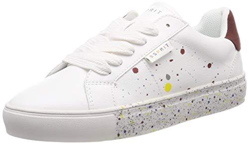 ESPRIT Damen Colette spla LU Sneaker, Weiß (White 100), 40 EU