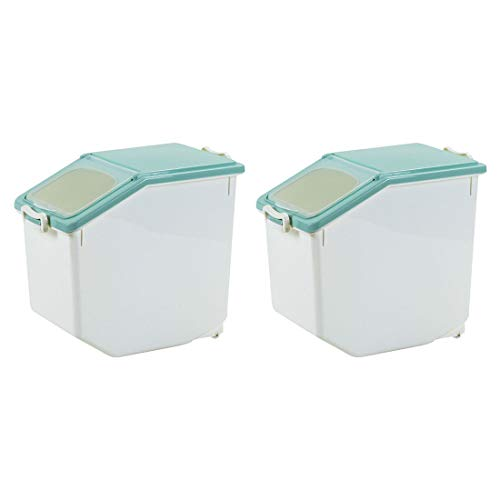Gettesy 2er Set 20L Reis Box Vorratsbehälter Aufbewahrungsboxen Reis Eimer Haushalt Küche Getreide Lebensmittel Reis Pasta Behälter Reis Abfalleimer