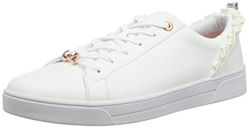 Ted Baker Damen Astrina Sneaker, Weiß (White Whte), 39 EU White Baker