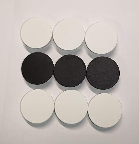 9 Stück STECKEL® (6x weiß + 3x schwarz) Staubschutz Deckel Steckdosen Abdeckung für saubere Schuko-Steckdosen Steckdosenleisten Mehrfachsteckdosen Spritzschutz Design