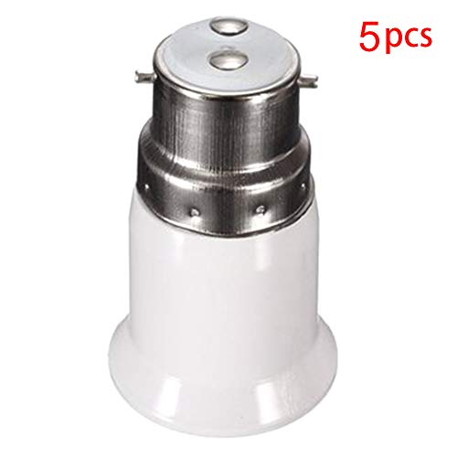 B22 To E27 Lampe Halter Wandler Basis Glühbirne Buchsen Adapter Led-Licht es Edison Schraube Adapter Konverter - 5pcs -