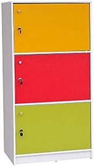 Multi Use Cabinet, 3 Door, Multi Color, Cb 830 C