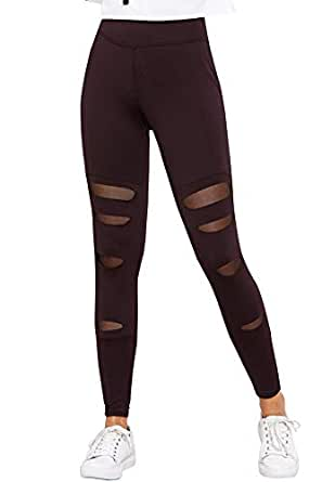 BLINKIN Sexy Mesh Patchwork Yoga Gym and Active Sports Fitness Leggings Tights for Women/Girls(5001)