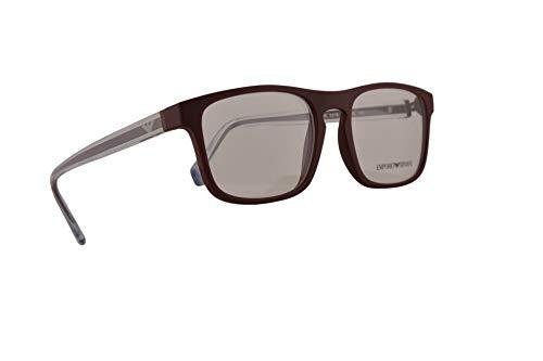 Emporio Armani EA3106 Eyeglasses 55-19-145 Matte Bordeaux w/Clear Demo Lens 5576 EA 3106