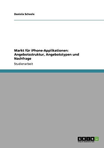 Markt für iPhone-Applikationen: Angebotsstruktur, Angebotstypen und Nachfrage