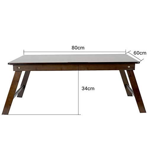 Massivholz Klappbett Tisch Freizeit einfachen Nachmittagstee Sofa kleinen Tisch Lernen Computertisch (größe : 80 * 60 * 34cm)