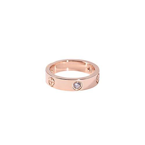 Salbei Zubehör (Europäische und amerikanische Farbe gold Ring paar Salbei Ring Ring Titan Stahl beschichtet rose gold Zubehör)