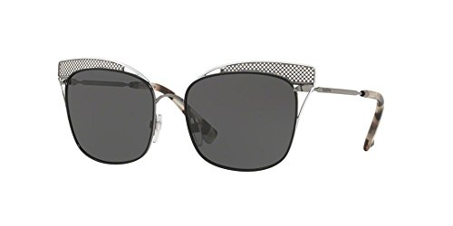 Valentino Damen 0VA2017 303787 55 Sonnenbrille, Schwarz (Gunmetal Mat Black Shiny White/Darkgrey)