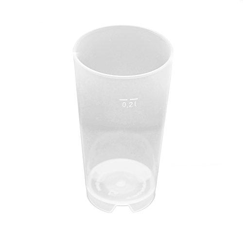 100 Stück 0,2L Mehrwegbecher PP transparent