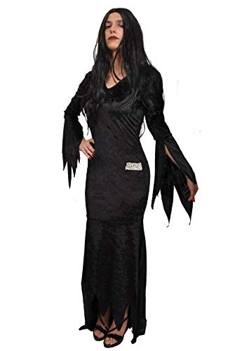 Pugsley Kostüm - Ciao-Costume Mortissia Addams Family, Einheitsgröße, Schwarz,
