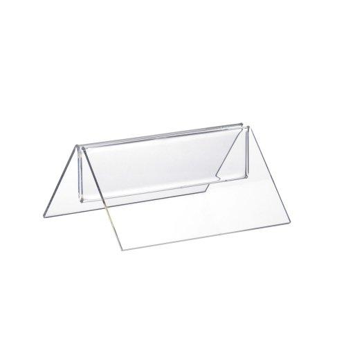 12 Stück Menükartenhalter / Werbeaufsteller / M-Aufsteller aus Acrylglas 100mm Breit