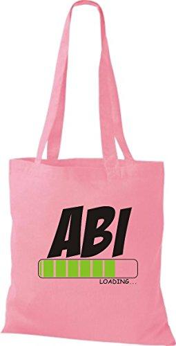 ShirtInStyle Stoffbeutel Baumwolltasche ABI Loading Farbe Pink rosa