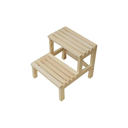 HCJTD Tritthocker, Massivholz Tritthocker Multifunktions-Land Praktisch Holzbank Double layer Stufenhocker (Holz-schlafzimmer-tritthocker)