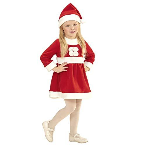 NET TOYS Niedliches Weihnachts-Kostüm für Kinder | Rot-Weiß in Größe 110, 3 - 4 Jahre | Hinreißendes Mädchen-Kleid Kleine Miss Santa | Perfekt geeignet für Weihnachten & ()
