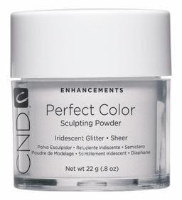 CND Cosmetics Poudre Parfait Couleur – Irisé à paillettes – Transparent – 22 G/22 g