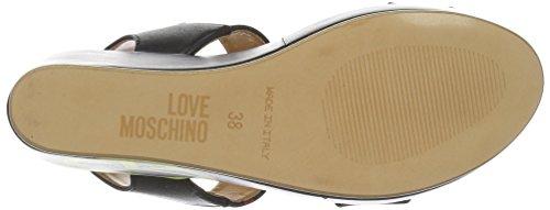 Love Moschino, Sandales Compensées  Femme Noir (black 000)
