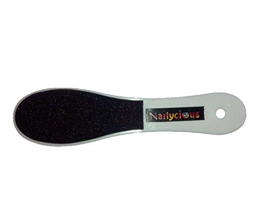 Doppelseitige Keramik-Fußfeile, grob und Fein, mit Handgriff -