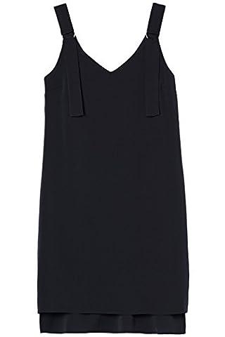 FIND Robe à Bretelles Femme, Noir (Black), 46 (Taille Fabricant: XX-Large)