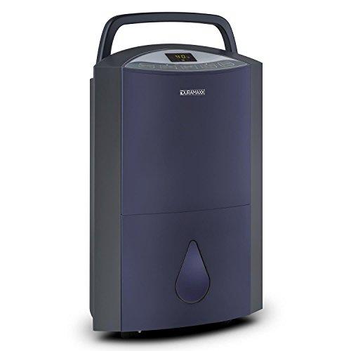 DURAMAXX Drybest 20 deumidificatore purificatore d'aria a compressione (330W, serbatoio 5,3 litri, 20l/24h, sistema di filtraggio, 3 livelli, spie a LED, timer) - blu