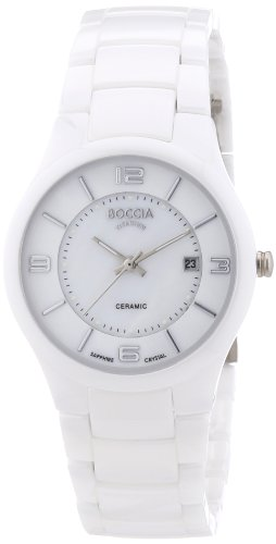 Boccia Dress Titan Keramik Quarz Damen Uhr Weiß 3196-01