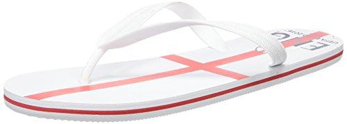Euro 2016Leonard, Hommes Chaussons de dos ouvert Blanc - White (300 England)
