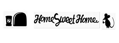Maus Graffiti Writer Home Sweet Home Love Herz Amore Minie Loch Home Live Kids Funny Art Wand Aufkleber Aufkleber Baseboard Kinder Mäuse Sockelleiste