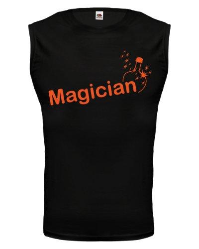 buXsbaum® Tank Top Magician Black-Orange