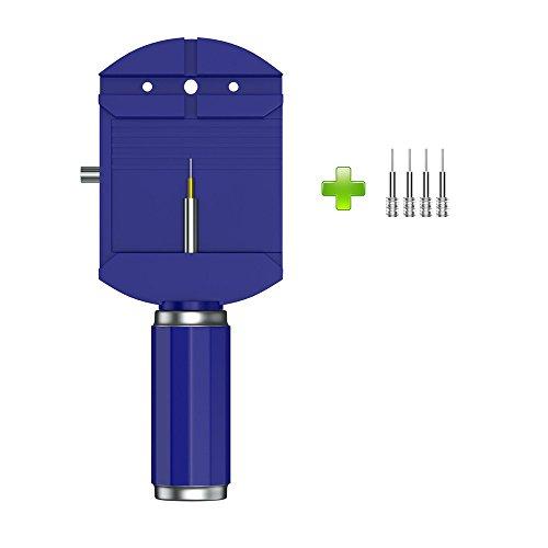 Fcostume Professionelles Uhrenarmband Armband Entferner Repair Tool Einstellen + 4 Ersatzstifte (Blau)