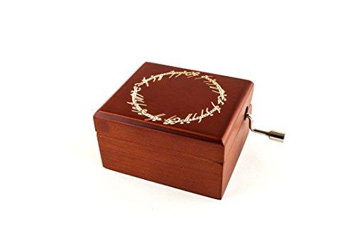 Caja musical grabada con la inscripción del Anillo Único - El señor de los anillos