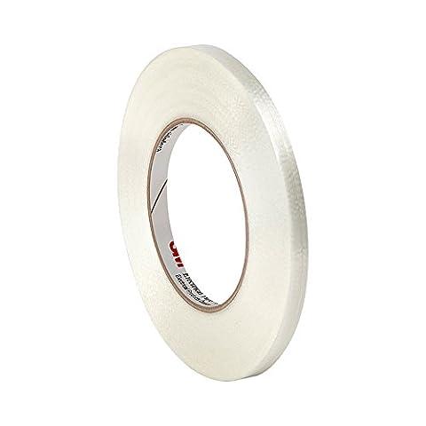 tapecase 11390,3cm x 60yd (PK-3) Film polyester Transparent/Verre Filament renforcé 3m ruban adhésif électrique 1139, 311°F Température de la performance, 0cm Épaisseur (Lot de 3)