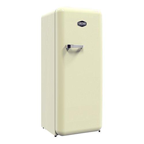 Vintage Industries ~ Retro-Kühlschrank Havanna in creme beige | 50er Jahre Look | Größe 152,5 cm | Kühl-Gefrier-Kombination 302l | Getränke-Kühlschrank mit Gefrierfach/Gefrierschrank 21l