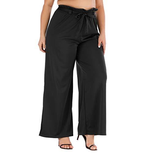 Pantalones Mujer Anchos Invierno Cintura Alta Tallas