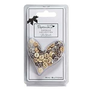 Papermania Small Plastic Buttons Mini Polka (60pcs) - Capsule - Lincoln Linen