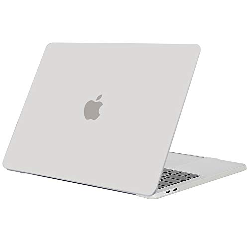 TECOOL Hülle für MacBook Pro 15 Zoll 2018/2017/2016, Slim Plastik Hartschale Schutzhülle Snap Case für Apple MacBook Pro 15,4 Zoll mit Touch bar (Modell:A1707 A1990) - Matt Klar - Pro Das Macbook Case 15 Retina Klar