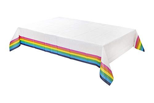 Talking Tables Rain-Tcover Nappe en papier Motif arc-en-ciel 180 x 120 cm Multicolore
