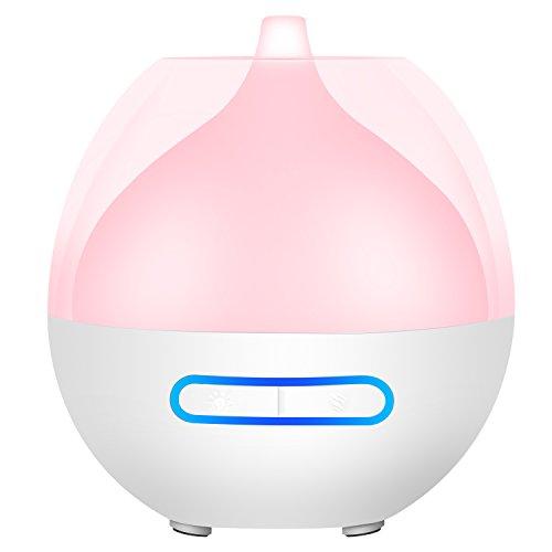 Aroma Diffuser Ätherisches Öl Düfte Ultraschall Duftlampe tragbarer Aromatherapie Luftbefeuchter mit 7 Led Farben Lichter und USB Anschluss Öl Diffuser für zuhause Auto Yoga Büro Schlafzimmer Reisen -