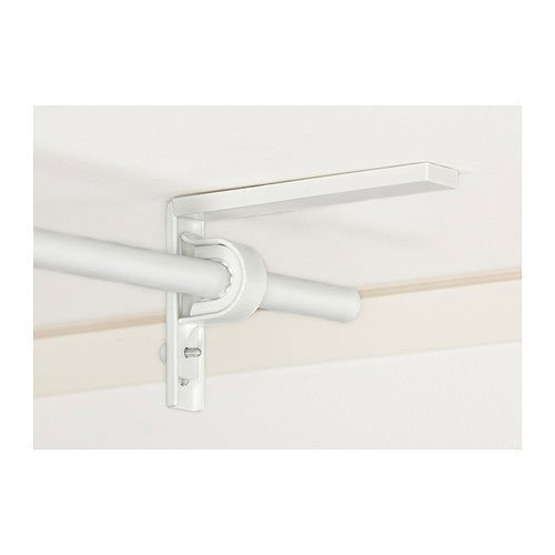 2 er Set Ikea Betydlig Wand- oder Deckenhalterung Duschvorhangstange mit Halterung, Weiß