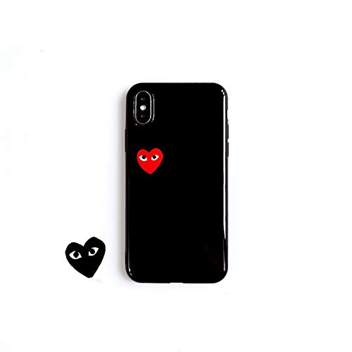69f2d42456314 CGD Play Love Heart Silicone iPhone XS max case iPhone 7/8 Plus Mobile  Phone Shell Anti-Drop iPhone 6s/XR case Couple Women Men