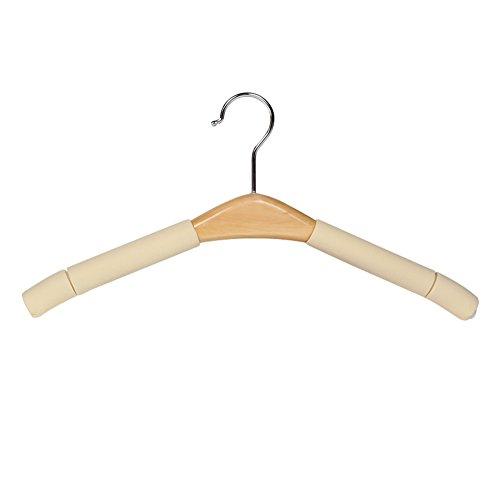 gancio/ tinta legno coat hanger/ nessuna traccia della gruccia/ asciugatura/In legno antiscivolo dress up-A - 12 Intaglio Bar